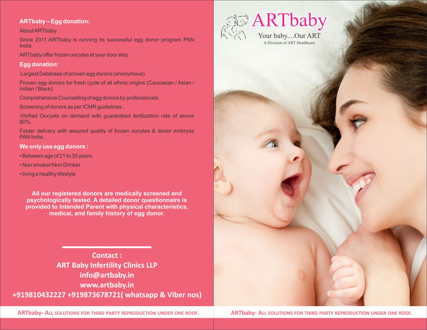 Brochure ARTbaby fertility clinic India